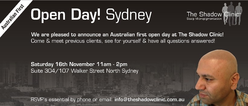 Open Day Sydney Micro Scalp Pigmentation